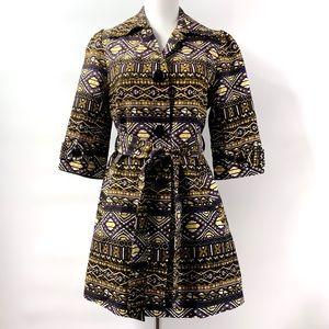 "Jade by Melody Tam Tribal Aztec Coat Small 32"" L"